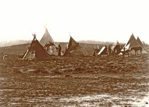 Jicarilla Apache camp by Edward S. Curtis, 1905.