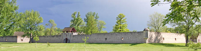 Fort De Chartres, Illinois by Kathy Weiser-Alexander.