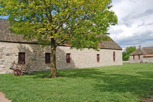 Fort De Chartres, Illinois buildings by Kathy Weiser-Alexander.