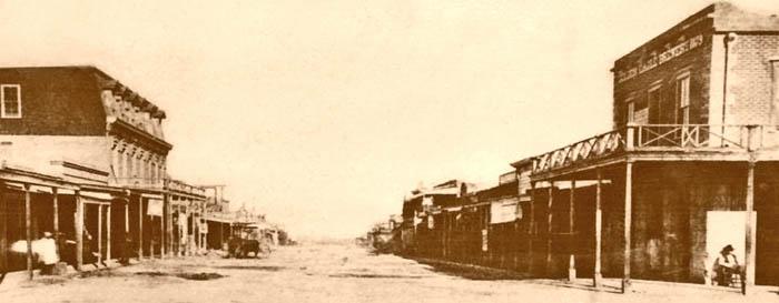 Tombstone, Arizona - Allen Street, 1882.