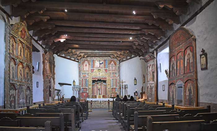 Chimayo, NM -El Santuario Shrine Church Interior