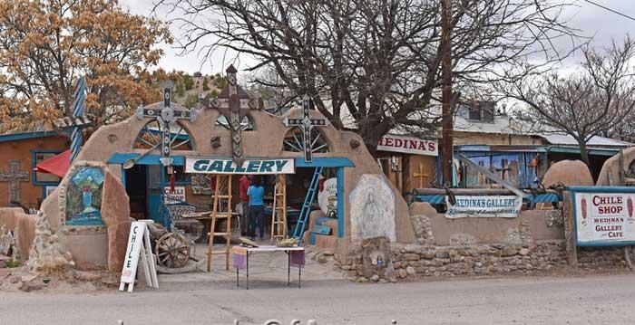 Chimayo, NM - El Potrero Gallery & Café.