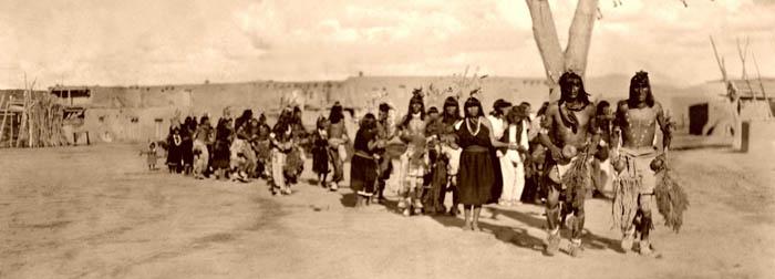 Tewa Indians, Tablita Dance, San Ildefonso Pueblo, New Mexico, by Edward S. Curtis, 1905.