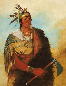 Wea Brave by George Catlin.