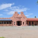 Costilla, New Mexico Plaza building by Kathy Weiser-Alexander.