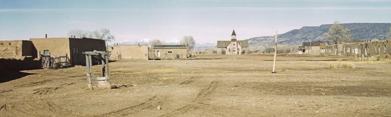 Costilla, New Mexico Plaza by John Collier, 1943.