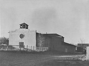 San Antonio Church in Questa, New Mexico by John Collier, 1943.