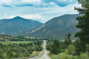 Entering Questa, New Mexico by Kathy Weiser-Alexander.