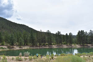 Eagle Rock Lake in Questa, New Mexico by Kathy Weiser-Alexander.