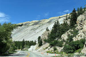 Questa, New Mexico mine tailings by Kathy Weiser-Alexander.