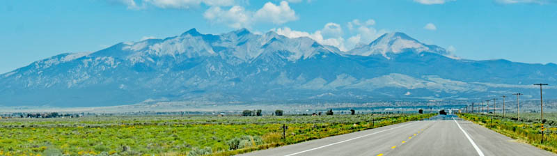 San Luis Valley south of Fort Garland, Colorado with Blanca Peak in the background by Kathy Weiser-Alexander.